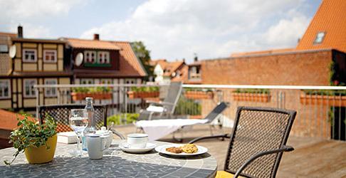 Balkon Hotel Johannishof Wernigerode