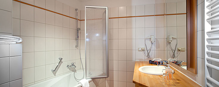 Badezimmer im Hotel Johannishof - Wernigerode